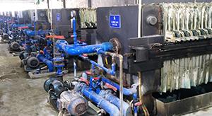 广东某电镀基地自动拉板压滤机使用现场
