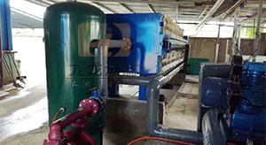 宁波某电器制造企业隔膜压滤机使用现场