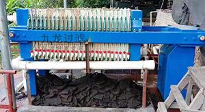 宁德某电器制造企业自动保压压滤机使用现场