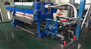 天津某汽车配件有限公司自动拉板压滤机使用现场