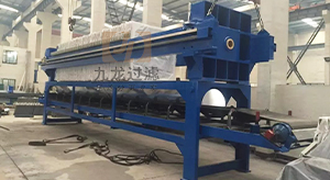 青海某建筑工地自动拉板压滤机使用现场