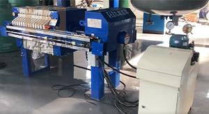 广州某能源研究所自动拉板压滤机使用现场