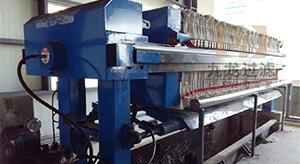 绍兴某热电有限公司自动拉板压滤机使用现场
