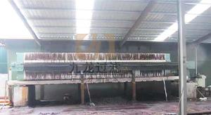 安徽某造纸有限公司自动拉板压滤机使用现场