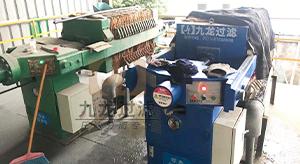 昆山某涂装有限公司自动保压压滤机使用现场